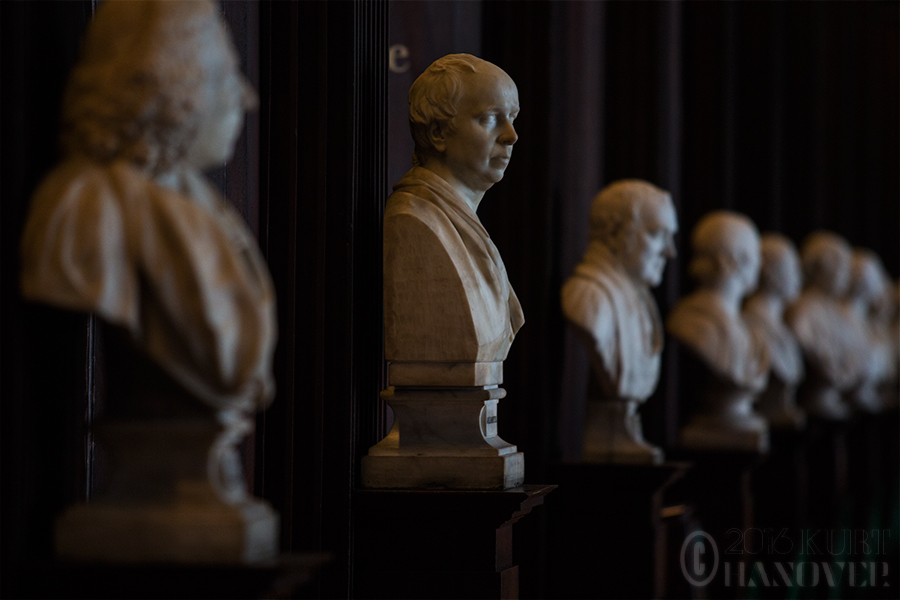 Trinity College Long Room Busts by DoomsdayAsteroid