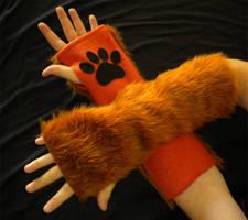Fox Arm Warmers by StuffItCreations