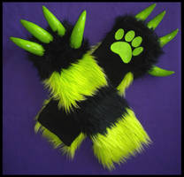 Monster Armwarmers Toxic by StuffItCreations