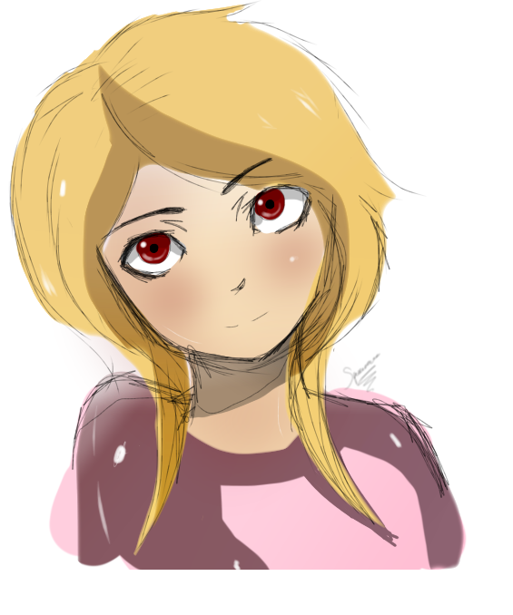 Girl Drawing 007 (Colors and Gradients) by spenzbowart