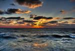 Sunset in Tel-Aviv port