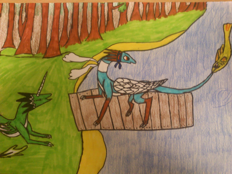 how dragons fishing by cynderplayer