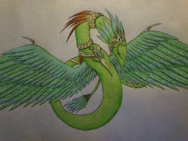 Emerald, ruler of serpents by cynderplayer