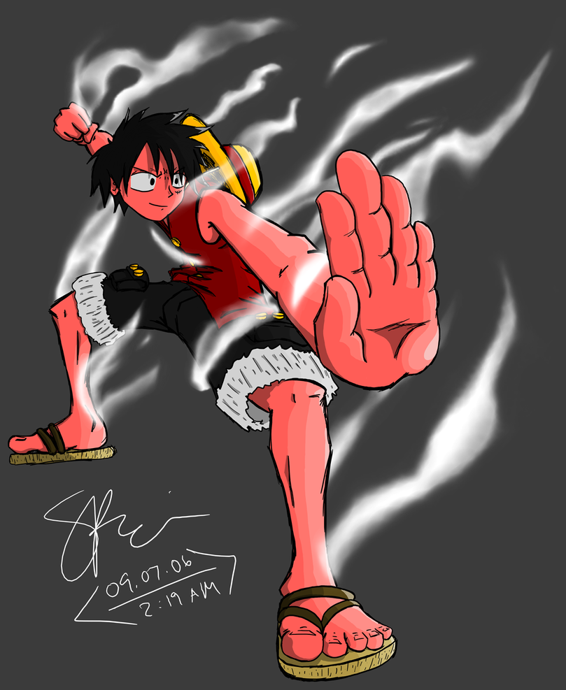 One Piece Wallpaper Luffy Gear Third Luffy - Gear Second by...