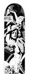 Who Do You Love skate deck   black and white by fvallejo