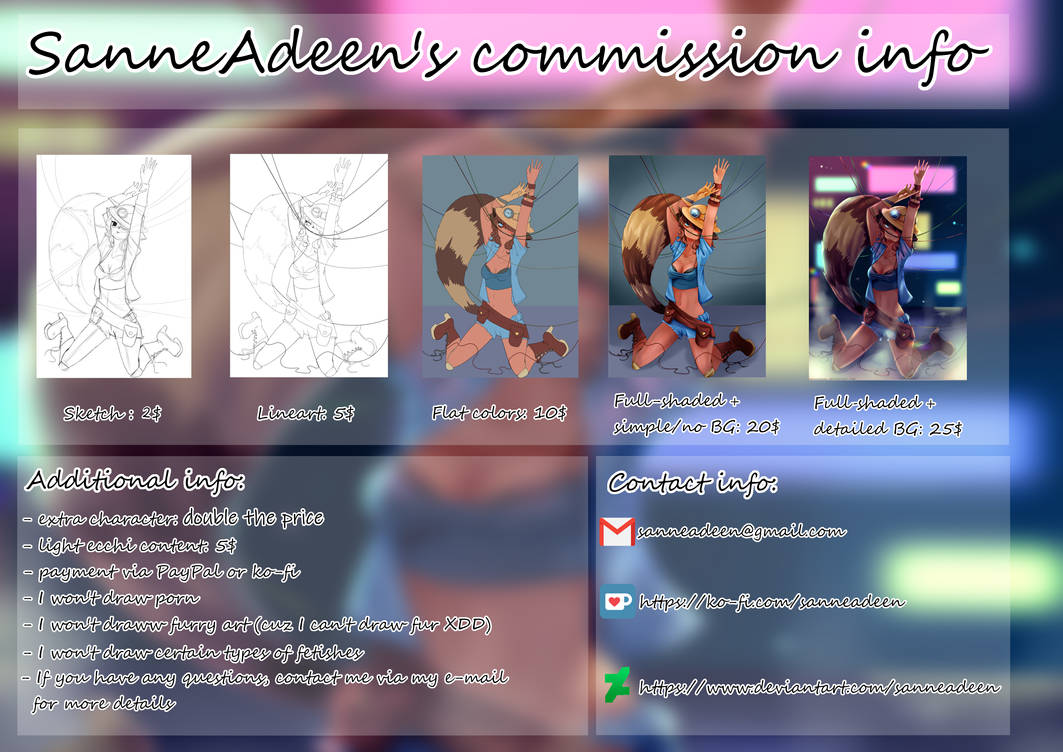 (OPEN) .: Commission Info :.