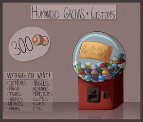 [Open] Humanoid gachas and customs by ElithianFox