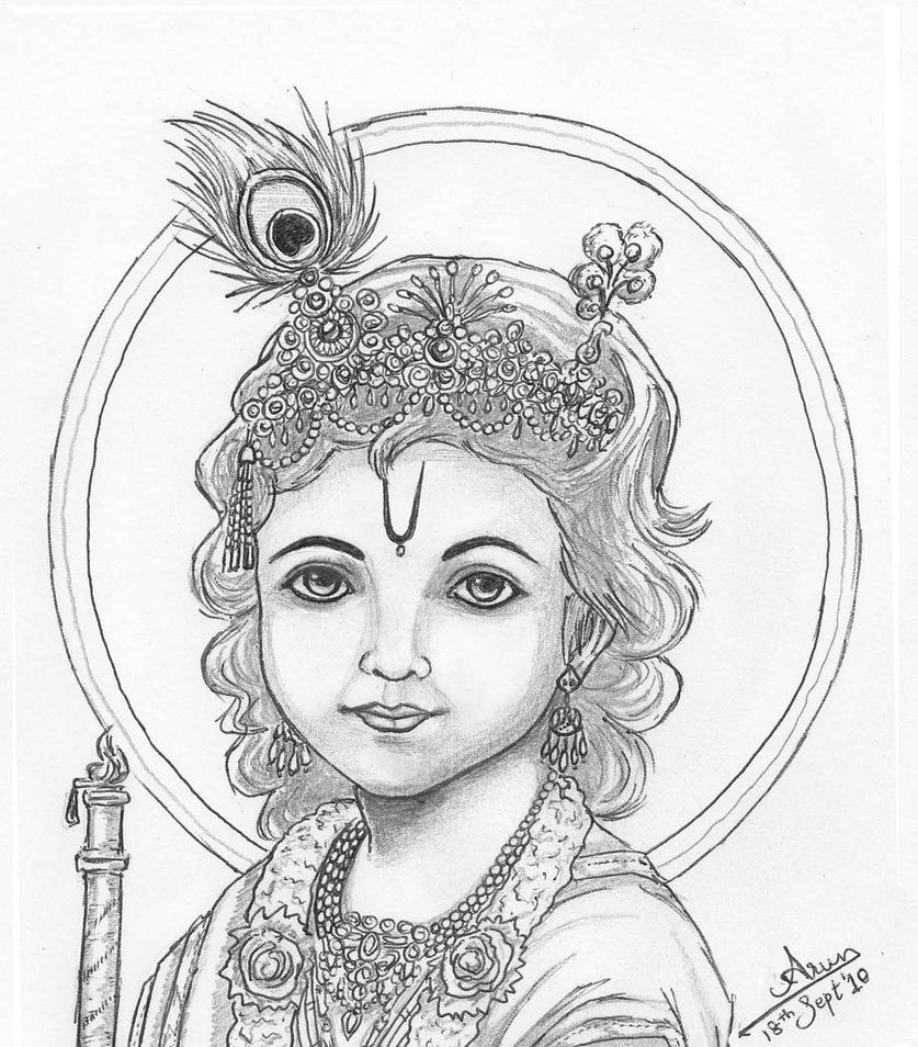 Easy Pencil Drawings Of Lord Krishna   Www.imgkid.com - The Image Kid Has It!