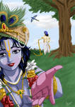 Krishna calling out
