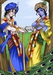 Lord Sri Krsna and Sri Balarama Anime style