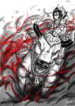 Anime sketch: Lord Shiva and Nandi
