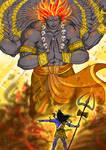 Lord Shiva summons Virabhadra