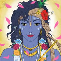 Digital Painting: Vrindavana Krishna! by nairarun15