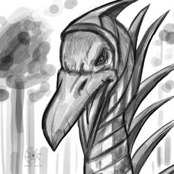 Digital Doodle: Vulturon (OC) by nairarun15