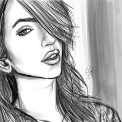 Digital doodle: Hot hairstyle! by nairarun15