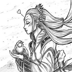 Digital Sketch: Princess and the bird! (Concept) by nairarun15