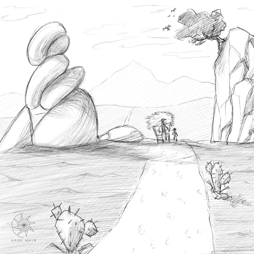 Digital Sketch: The Path! (OC) by nairarun15