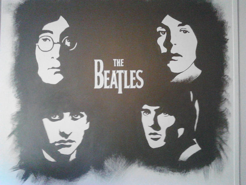 Beatles mural by allmightyoz on deviantart for Beatles wall mural