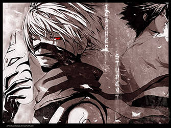 kakashi sasuke.student teacher by sakimichan