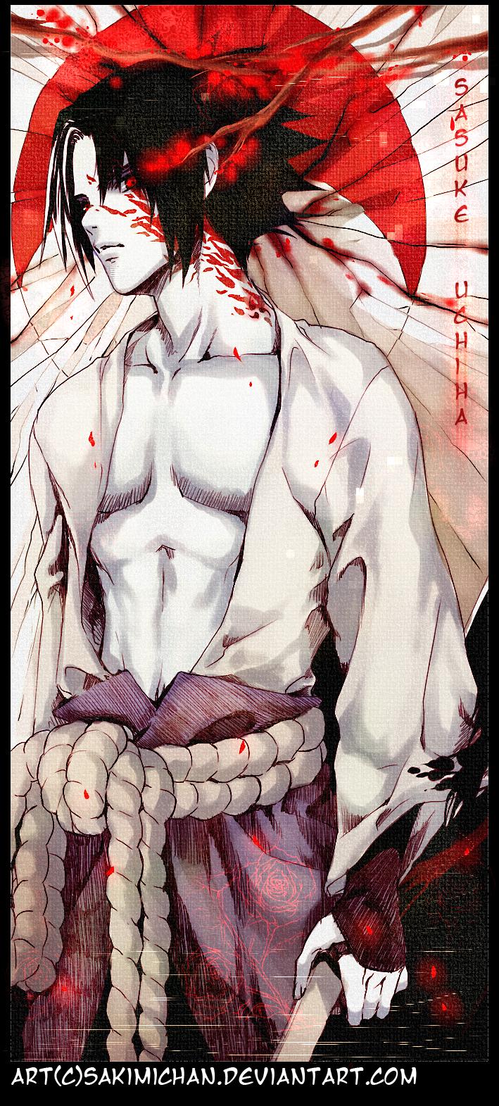 .Sasuke Uchiha . by sakimichan