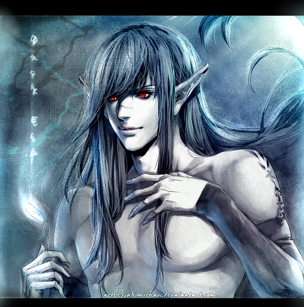 Dark.Elf boi.. by sakimichan