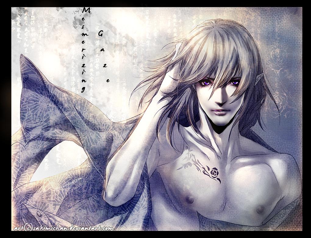 .HIS mesmerizing gaze . by sakimichan