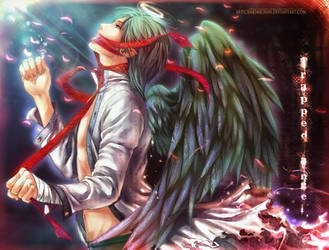 .Trapped Angel.Wallpaper-fied. by sakimichan