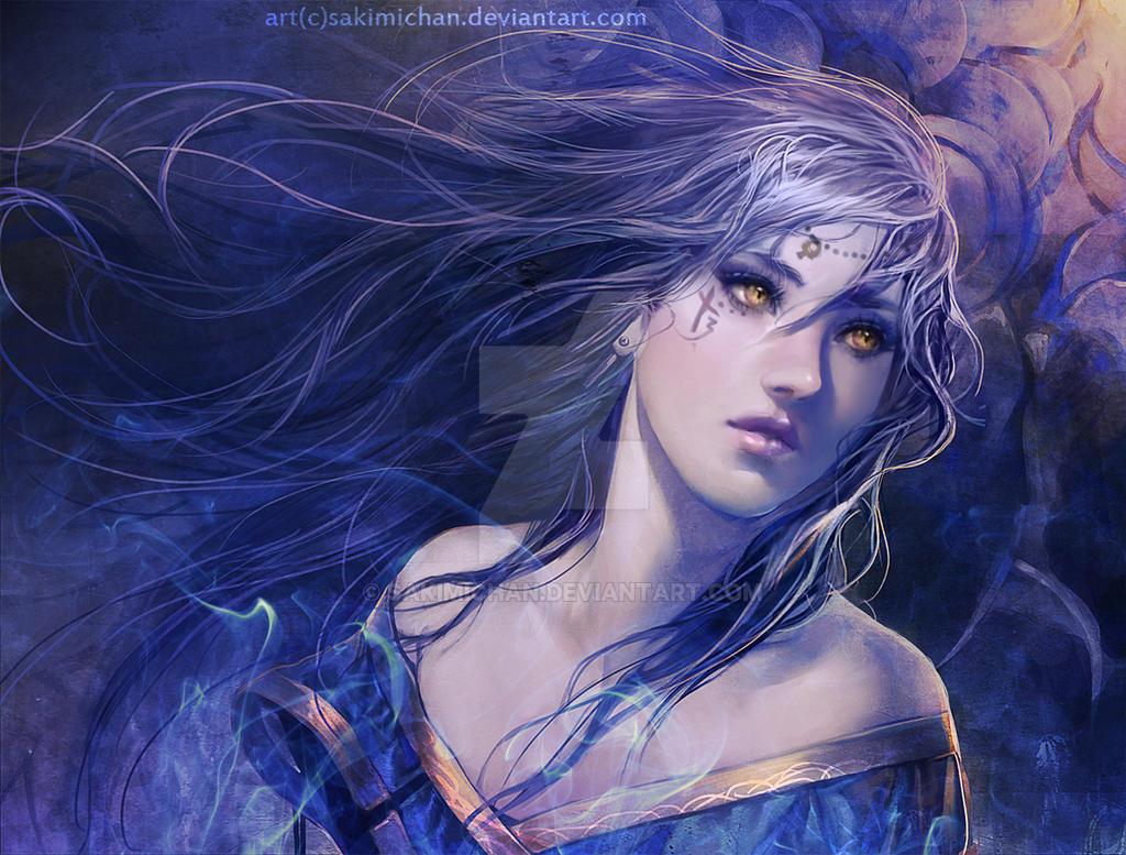 Magic girl by sakimichan