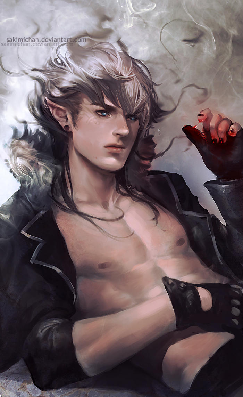Demon Guy by sakimichan