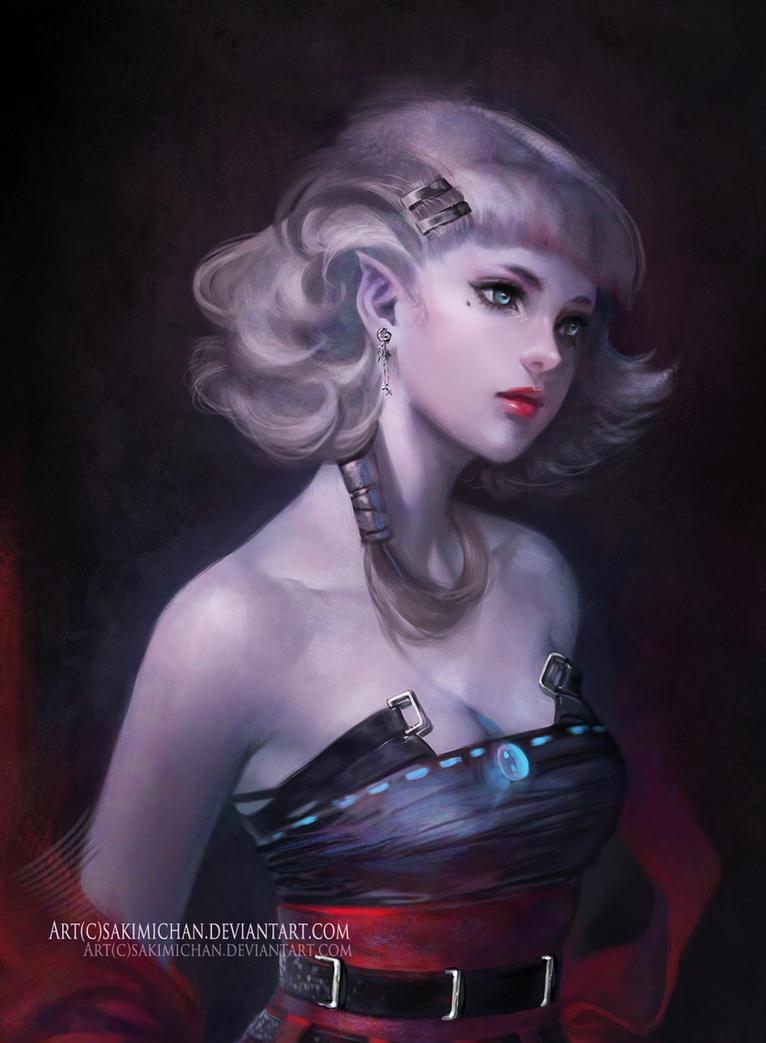 Sakimi-chan-artista de DeviantART Vampire_princess_julia_by_sakimichan-d3es6di