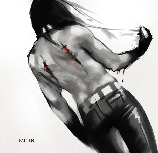 Fallen by sakimichan