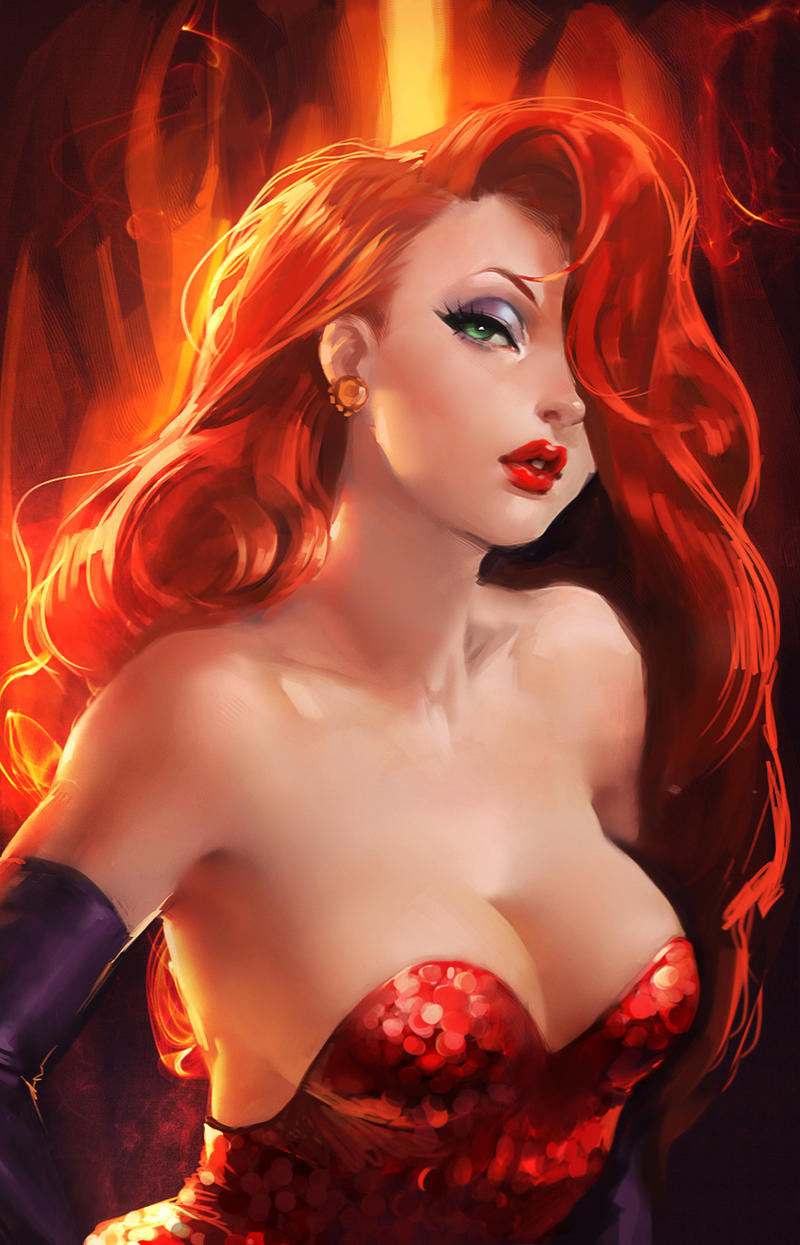 Jessica Rabbit. by sakimichan