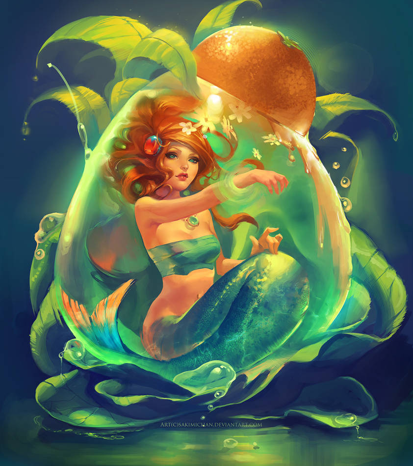 Mermaid Drop by sakimichan