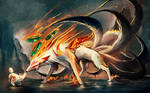 Nine Tailed fox and Pup