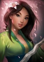Hua Mulan by sakimichan