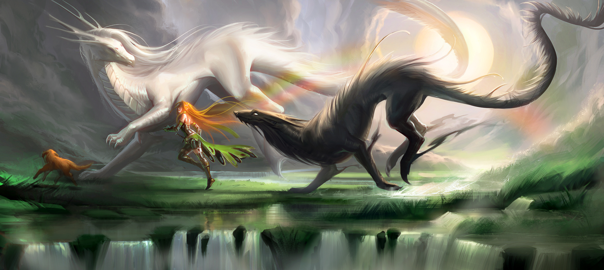 [Image: running_with_spirits_by_sakimichan-d5l84jc.jpg]