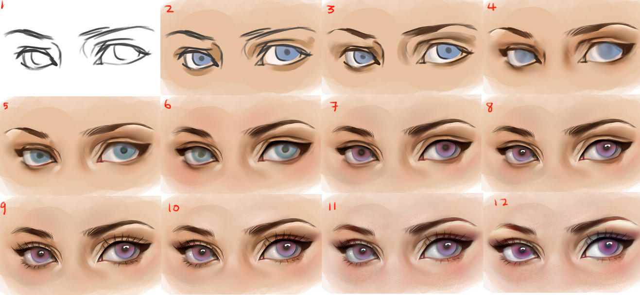 Eyes Step By Step By Sakimichan On Deviantart