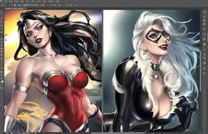 Comic ladies Wip
