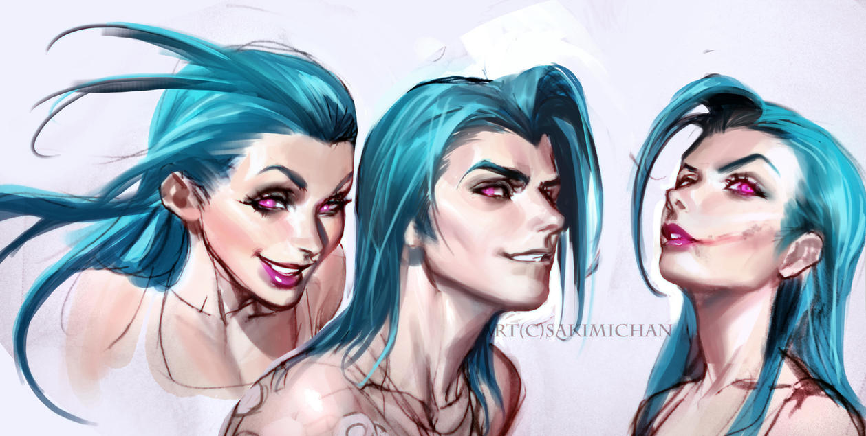 Jinx Sketches by sakimichan