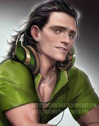 Modern Loki by sakimichan