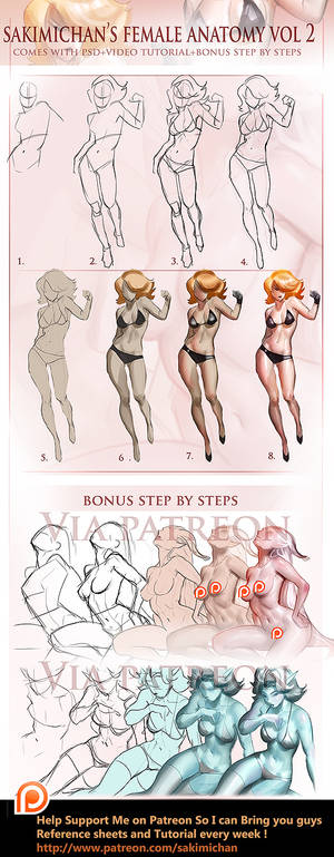 Female Fullbody step by step Vol 2 tutorial