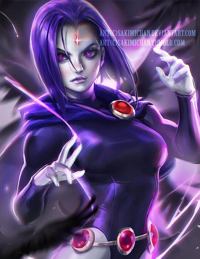 Raven Teen Titan by sakimichan
