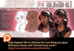 How to paint dark skin characters tutorial pack