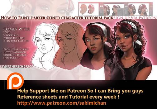 How to paint dark skin characters tutorial pack