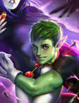 Beast Boy Glomp