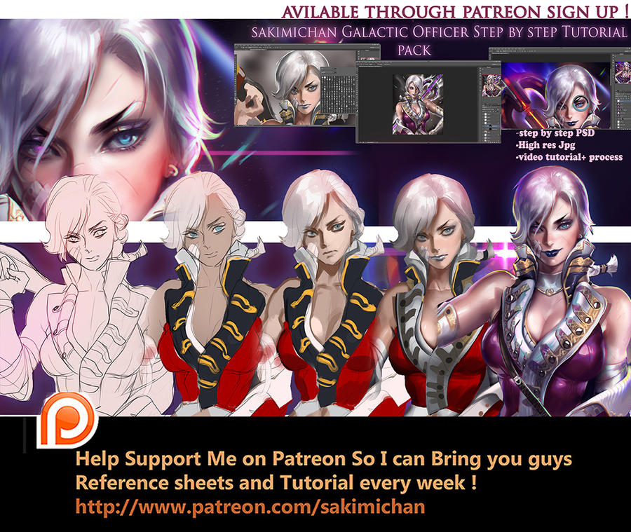 Galactic Officer Tutorial pack by sakimichan