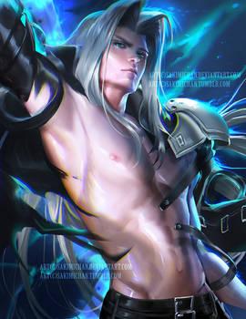 Sexy Sephiroth .NSFW optional.