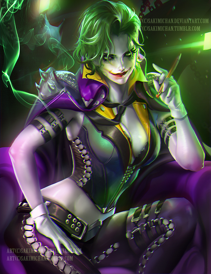 Joker by sakimichan on DeviantArt Disney Princess Face Paint