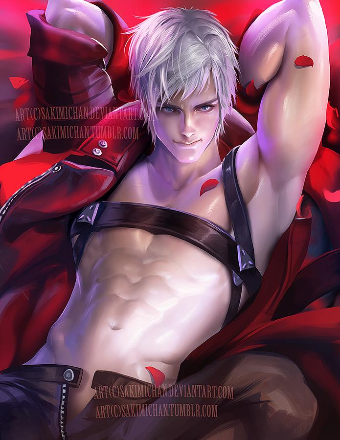 Dante .male nsfw serie. by sakimichan