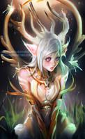 White Deer by sakimichan